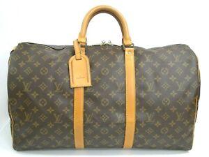 Louis Vuitton Keepall 50 Boston Bag M41426 Monogram Brown France 71180358500 K