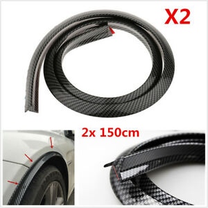 "118"" Carbon Fiber Car Fender Flare Wheel Eyebrow Protector Wheel Arch Trim Strip"