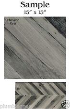 "REFIN Ceramiche CHEVRON Italian Floor Tile LJ42 Gris 15"" x 15"" SAMPLE"