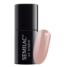 Semilac Nail GEL Polish Hybrid Manicure Soak off Remover 7ml Color Chart 136 Creamy Muffin