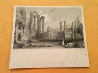 KF) Original 1842 Abbey of Arbroath Saint Thomas Becket Scotland Print Engraving