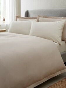 Hotel Collection  200tc Egyptian 100% Cotton Oxford Oyster Superking Duvet Set