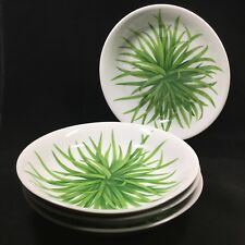 4 TAITU Erbe by Emilio Bergamin Soup or Pasta Bowls Made in Italy Green Herbs