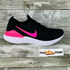 Nike Epic React Flyknit 2 Black Pink Blast Running Shoes BQ8928-013 Mens Size 10
