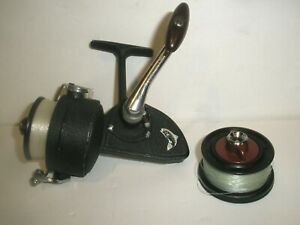 VINTAGE DAM D.A.M. QUICK 330  FISHING SPINNING REEL W/ SPARE SPOOL