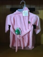 Pink Infant Hooded Bath Robe New W/ Toy Turtle M4-D