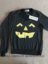 Wildfox Jacko Lantern Sweatshirt in Clean Black (Grey) In XS RRP£105 BNWT