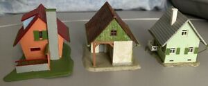 Vintage Faller Set Of 3 Family Houses for Railway/Town Layouts