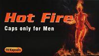 Hot Fire 10 Kapseln I Präparat für den Mann I 100% Pflanzlich