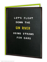 Funny Birthday Greeting Card Witty Amusing Comedy Humour Novelty Joke Gin Lovers