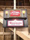 VINTAGE  WIEDEMANN BEER  LIGHTED SIGN . Welcome Friend.