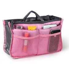 Women Lady Travel Insert Handbag Organiser Purse Large Liner Organizer Tidy Bag Pink