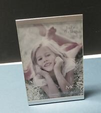 5 x 7 Silver Metal and Glass Slide Vertical Standing Photo Frame