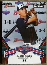 Carter Young 2018 Bowman Baseball Factory Under Armour All-American Card