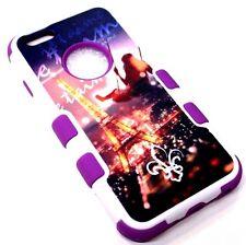 for iPhone 6 6s EIFFEL TOWER PARIS LIGHT SAINT Hard Soft Rubber Hybrid SKin Case
