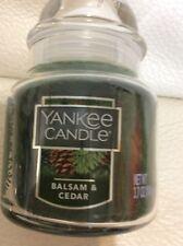 Yankee Candle One (1) Balsam & Cedar Small Jar NEW Fast Ship 3.7 oz Green