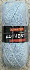 King Cole 100grm Authentic Cotton Blend Chunky 7 Shades Available Blue Denim 2170