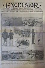 LIBAN TRIPOLI BENGHAZI GUERRE SOLDATS TURCS et ITALIENS  EXCELSIOR SEPT 1911