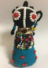 4� African Ndebele Madame Small Girl Doll Nouveau/Ethnic Art /South Africa