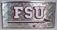 Florida State Seminoles Diamond Car Truck Tag FSU License Plate Football Noles