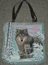 Wolf Hollow ~ Wolves Tapestry Tote Carry-All Bag