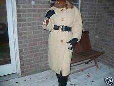 Designer Beige Princess Lilli Ann Mink fur trim Coat Jacket  Stroller S-L 0-10