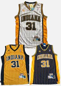3 Colors!Men's Reggie Miller Indiana Pacers Throwback Swingman Jersey Size S-XXL