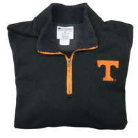 Champion Men's Medium Black Tennessee Volunteers Black Sweater Vintage Logo NCAA