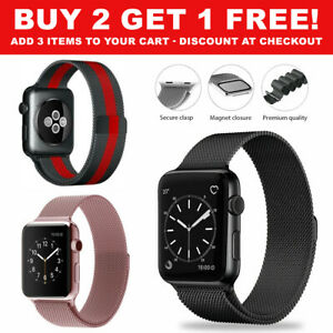For Apple Watch iWatch Band Series 6 5 4 3 2 SE 44mm 42mm 40 38mm Magnetic Strap