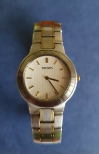 SEIKO Ladies Gold & SilverTone  Stainless Steel Wristwatch with Rotary Box