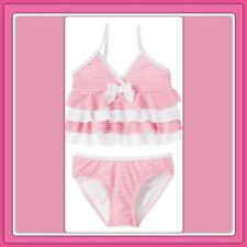 NWT 12-18 Janie & Jack RESORT COLLECTION Swimsuit 2pc Pink STRIPED UPF 50+ RARE!