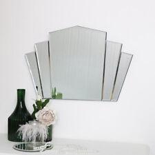 Art Deco Fan Frameless Wall Mirror vintage bedroom bathroom shabby chic decor