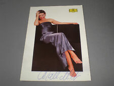 Anne-Sophie Mutter signiert signed autograph on postcard Autogramm in person