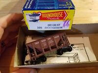 HO Scale TRAIN ROUNDHOUSE ORE CAR GREAT NORTHERN GN MINI 88003 KADEES metal base