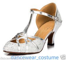 Women's Latin Tango Modern Prom Waltz Ballroom Salsa Dance Shoes 6cm Heels US5 Q