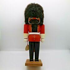 "Vintage Zuber 11"" West Germany Handmade Wood Christmas Xmas Nutcracker Solider"