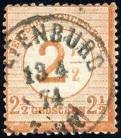 DR 1874, MiNr. 29 I b, guter Plattenfehler, Befund Krug, Mi. 500,-