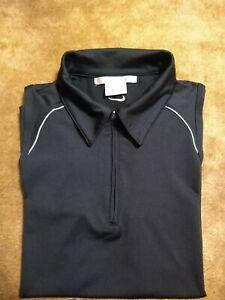 Nike Dri-Fit Sleeveless Golf Polo Black 1/4 Zip Women's Size Medium ⛳