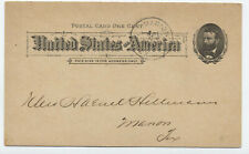 1890s Marion TX advertising postal card dry goods with grain [JP.138]
