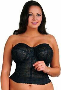 Goddess Women's Lace Bustier Bra #GD0689. Black.  40F