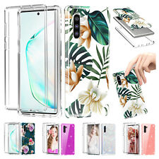 For Samsung Galaxy Note 10 Plus Flower Pattern Clear Shockproof Phone Case Cover