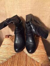 Rialto half calf black women's zip boots size 6M heels 3.5 in. top to bottom 13