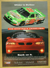1999 Pontiac WideTrack Grand Prix GT red car photo vintage print Ad