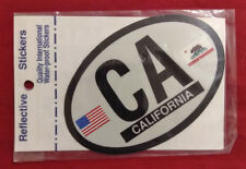 "3"" x 4.5"" OVAL CA CALIFORNIA REFLECTIVE WATER-PROOF AUTO CAR CYCLE BIKE STICKER"