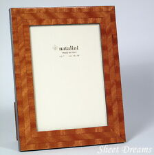 Natalini Togo Mogano Hand Made in Italy Wood Marquetry Photo Frame 5x7 Photo New