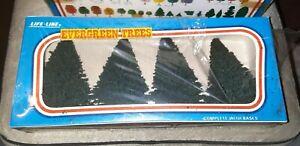 Vintage LIFE-LIKE Trees #01003 EVERGREEN Broke-Sealed New MIB BLUE BOX H/O Scale