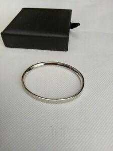MVMT Stainless Steel Silver Ellipse Bangle Bracelet