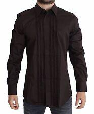 NWT $500 DOLCE & GABBANA Purple Cotton Silk GOLD Dress Shirt 41 / US16 / L