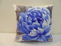 Designers Guild Floral 100% Cotton Tissu Charlottenberg Cobalt Housse de Coussin