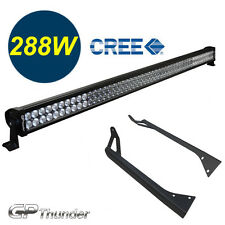 50in LED Light Bar + Windshield Roof Mounting Brackets Jeep YJ Wrangler 86~95